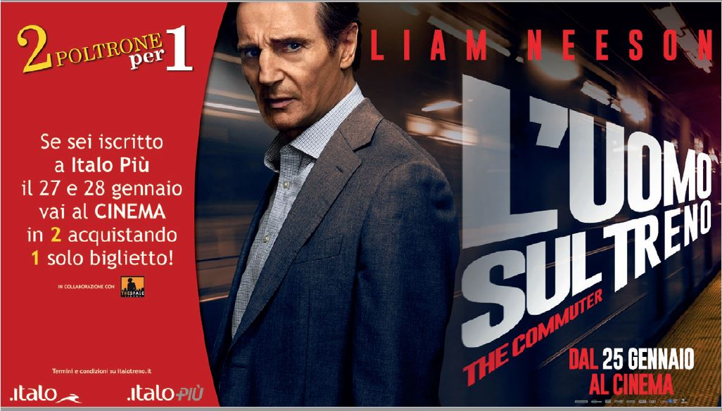 Italo ti porta al cinema con 2 poltrone per 1 agir - Tre ti porta al cinema ...
